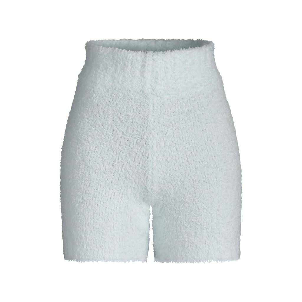 Kim Kardashian Skims Cozy Collection Knit Shorts —Aqua