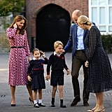 Princess Charlotte's First Day of School Pictures