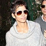 Halle Berry Enjoys a Casual Lunch While Her Custody Drama Continues