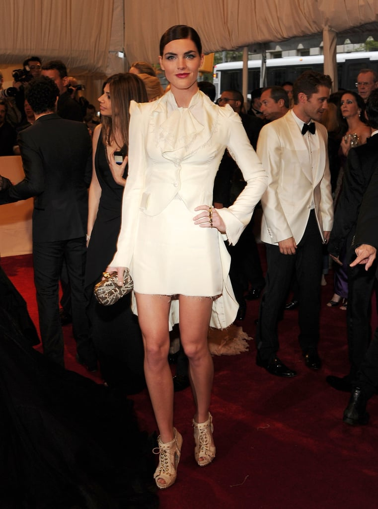 Hilary Rhoda in Alexander McQueen