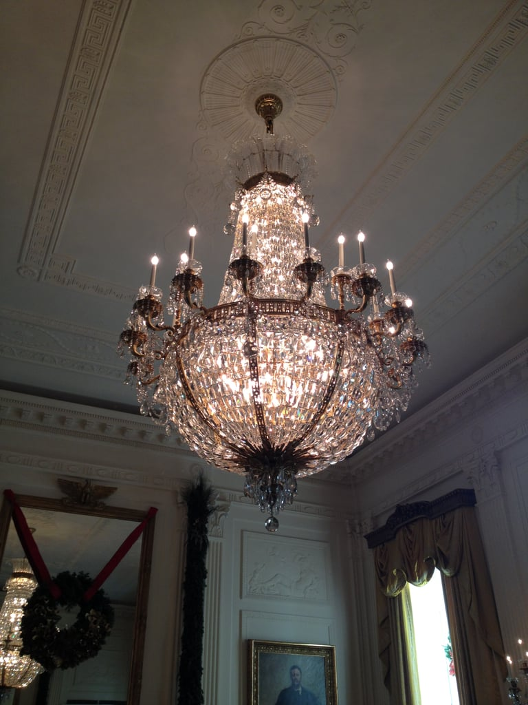The chandeliers in the East Room were stunning White House
