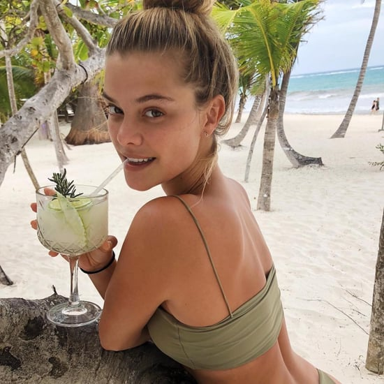 Nina Agdal Green Thong Bikini