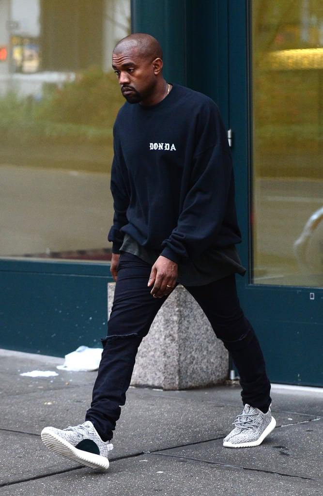 134c6125992fd The star was also spotted wearing his Yeezy Boost 350s the next day ...