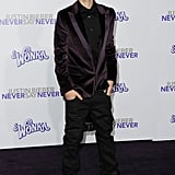 Justin and Selena Coordinate Their Purple For His Big 3D Premiere
