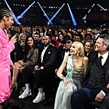 Alicia Keys, Gwen Stefani, and Blake Shelton at the 2020 Grammys