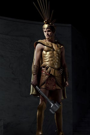 Daniel Shaman as Ares in Immortals.  Photo courtesy of Relativity