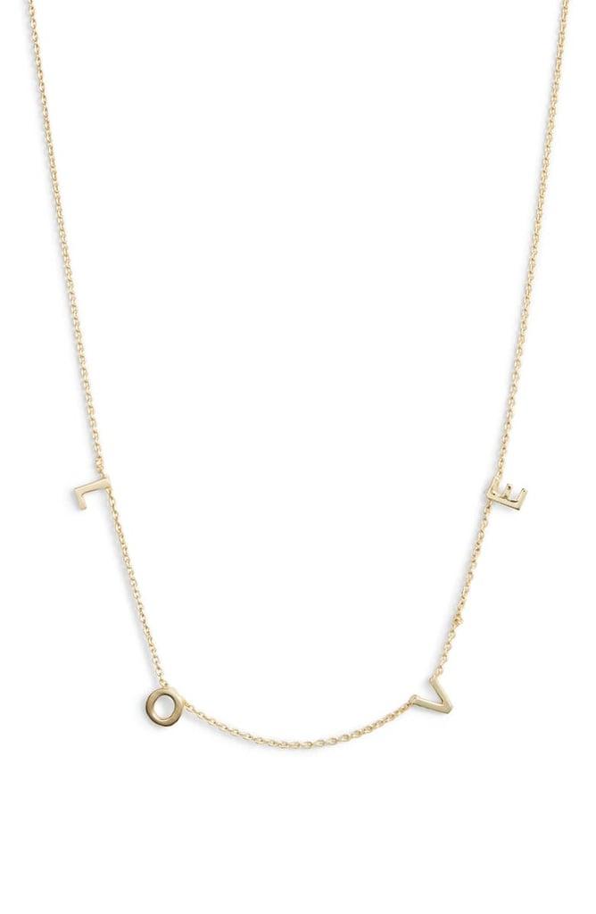 Argento Vivo Love Frontal Necklace