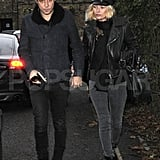 Kate Moss and husband Jamie Hince together in London.