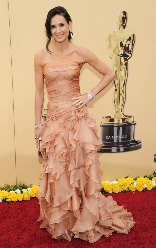 Demi Moore in Versace at the Oscars