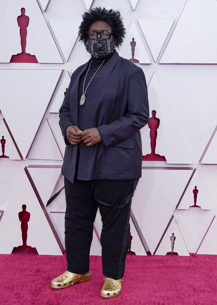 Questlove's Gold Crocs at the 2021 Oscars | Photos