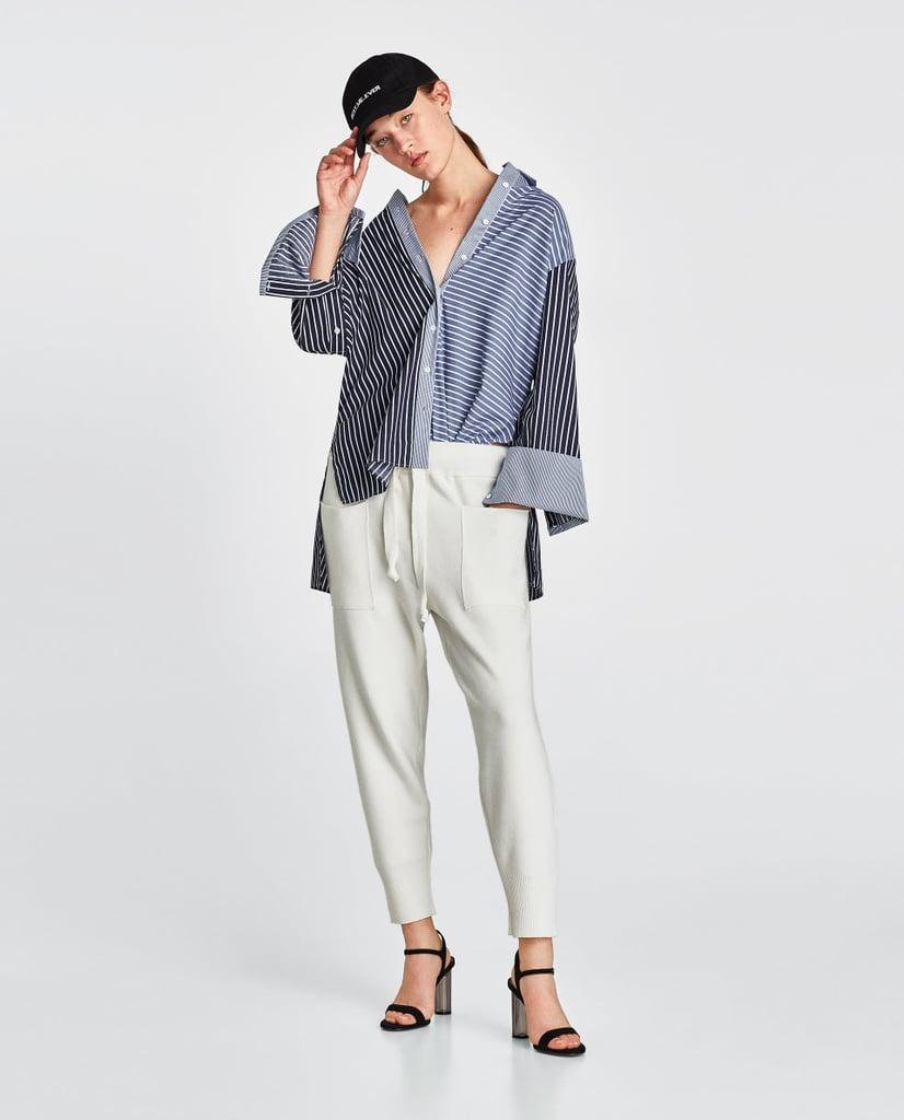 4c67108a Zara Jogging Trousers | Kim Kardashian Wearing White Sweatpants ...