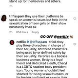 Instagram's Comment About the Riverdale Actresses