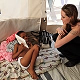 Photos of Angelina Jolie in Haiti