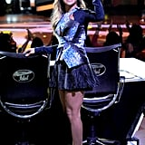Jennifer Lopez at American Idol's Season 11 elimination show.