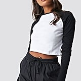 Na-Kd Long-Sleeved Cropped Tee