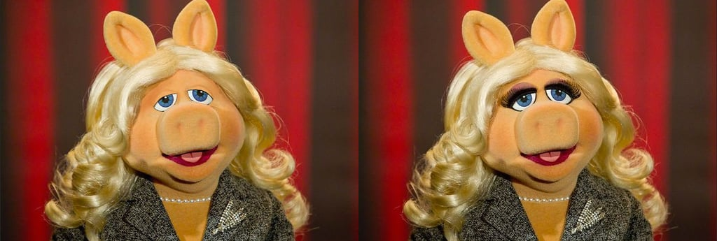 Miss Piggy With and Without Makeup