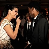Sandra Bullock and Chris Rock