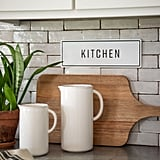 Embossed Metal Kitchen Sign