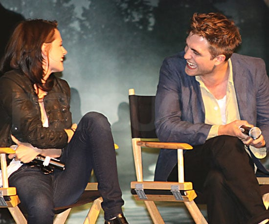 Slide Picture of Robert Pattinson and Kristen Stewart at Eclipse Press Conference