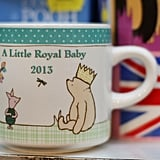 Mugs celebrating the royal baby are for sale in London.