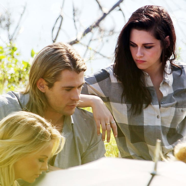 kristen stewart and chris hemsworth photo shoot popsugar