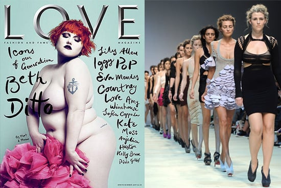 Plus Size Models Make a Statement in 2009 in Fight Against Size Zero