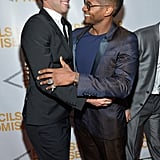 Usher greeted Pencils of Promise founder Adam Braun.
