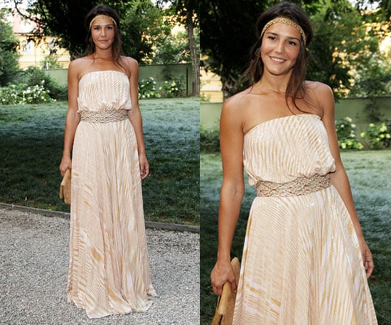 Margherita Missoni Wearing Peachy Striped Missoni Maxi and Hippie Headband 2010-06-30 12:00:22