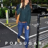 Katie Holmes wore jeans.