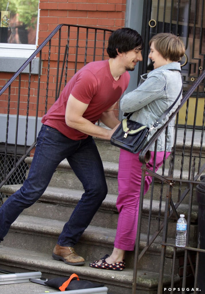 Lena Dunham and Adam Driver filmed a scene for Girls.