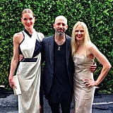 Hilary Rhoda showed some edge with Helmut Lang's Michael and Nicole Colovos. Source: Instagram user CFDA