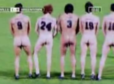 Streaker Interrupts Nude Soccer Game