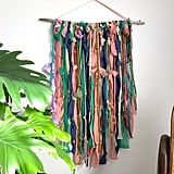 Peach Indigo Fiber Art Wall Hanging