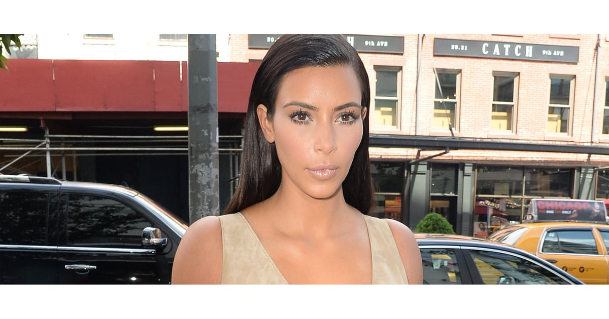 Kim Kardashian In Nude Dresses  Video  Popsugar Fashion-7496