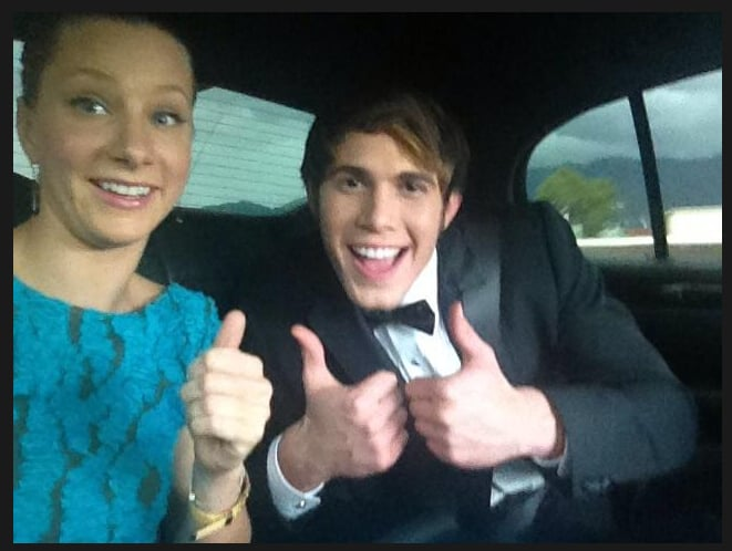 A very fashionable Glee moment. Source: Twitter user Blake_Jenner