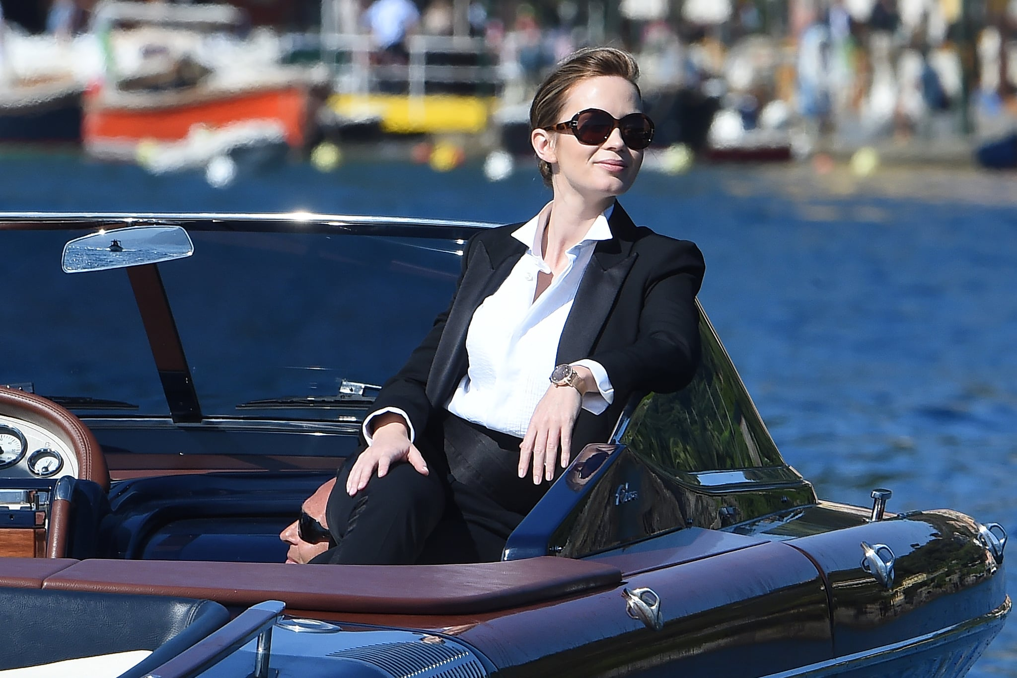 Emily Blunt basked in the sun for a photo shoot.