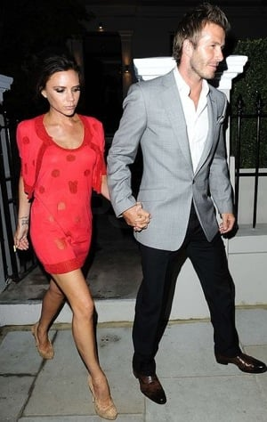 christian louboutin man shoes - Pictures of Victoria Beckham Wearing Fiery Red Dress and Christian ...