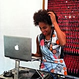Solange Knowles played deejay (a pretty chic one, at that) for the DVF crowd.