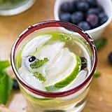 Champagne Blueberry Mojitos