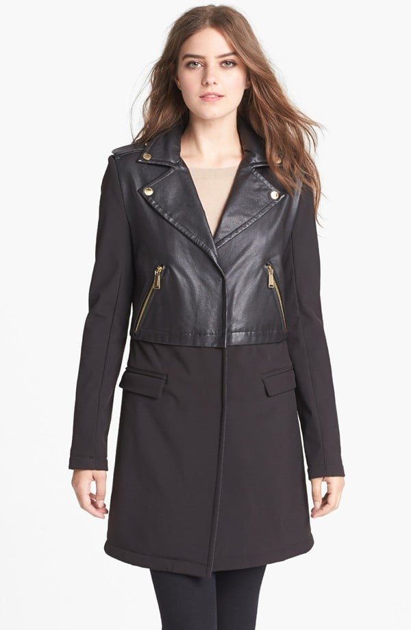 This BCBGeneration coat ($138) is like a warmer, Winter-proof version of your cool-girl leather jacket.