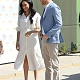 Meghan Markle Wore a White Belted Dress in South Africa