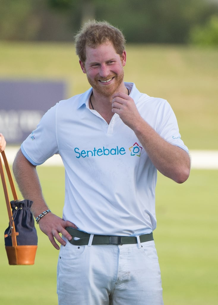Prince Harry at Sentebale Royal Salute Polo Cup 2015