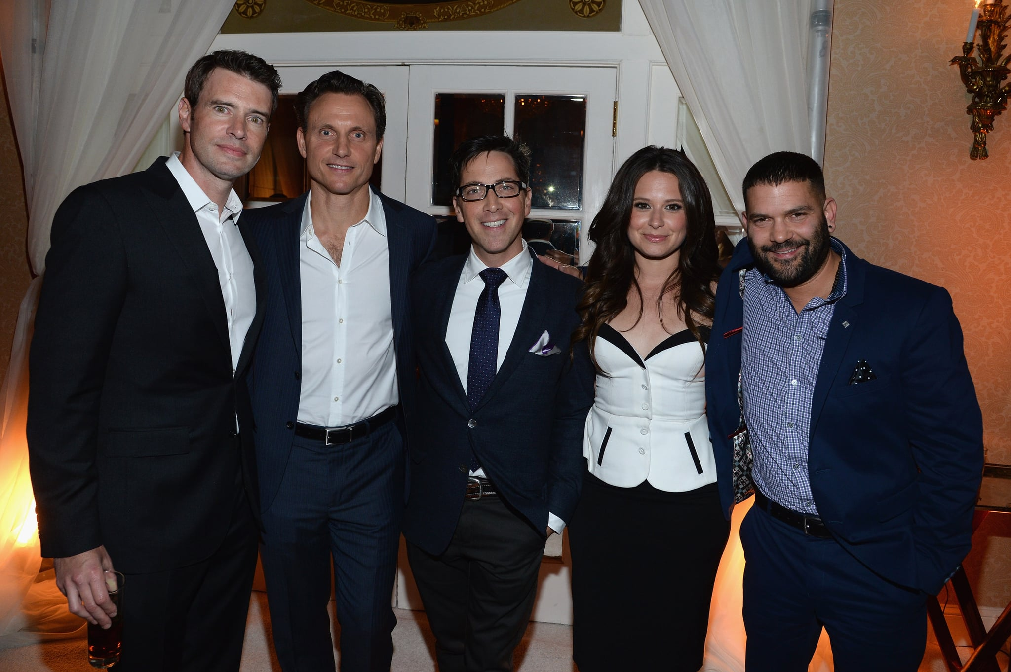 Scandal castmates Scott Foley, Tony Goldwyn, Dan Bucatinsky, Katie Lowes, and Guillermo Díaz gathered for a group photo at People and Time's event on Friday.