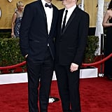 Justin Mikita was side by side with Jesse Tyler Ferguson at the SAG Awards.