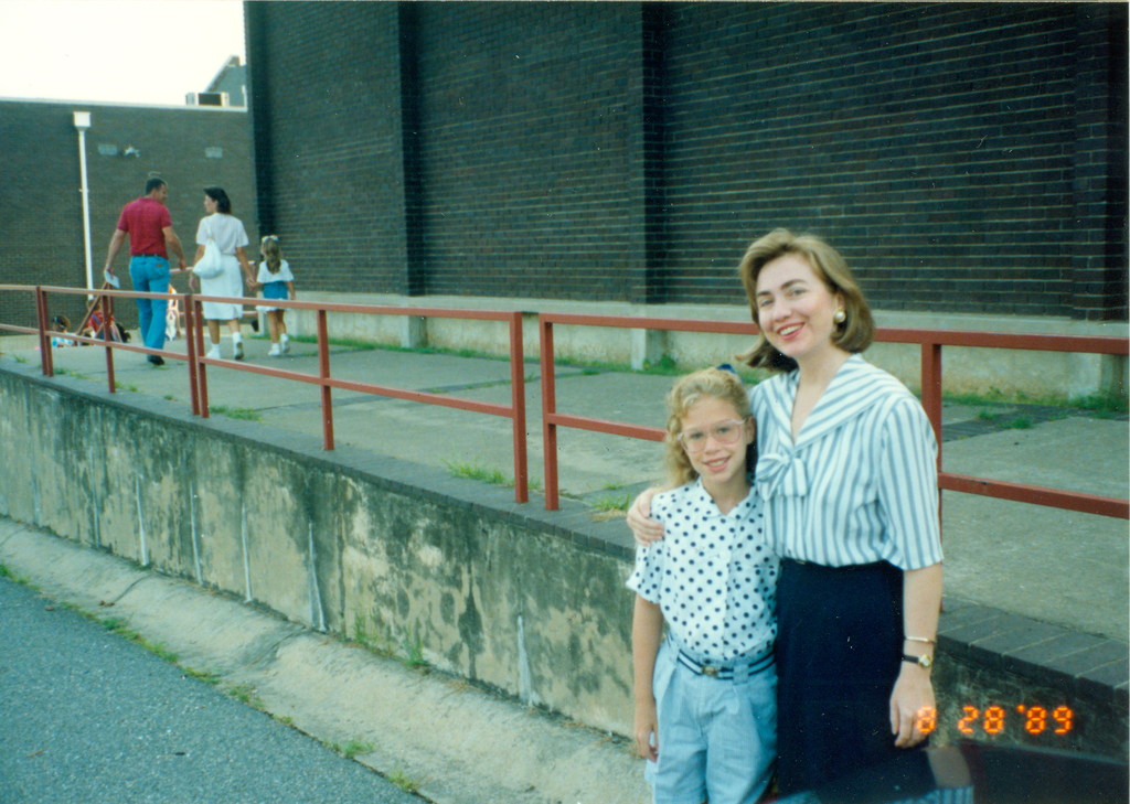 #TBT to my first day of the school year at Booker T. Washington Elementary School in Little Rock. My mom is rocking that '80s collar!