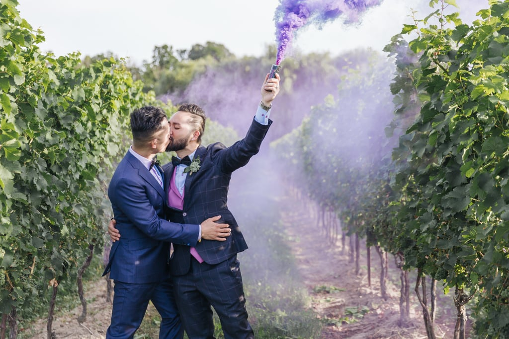 Mike and Kim's travel-themed wedding took place at Vineland Estates Winery in Canada. See the wedding here!