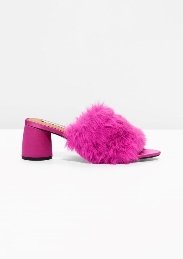 Faux Fur Mule Sandalettes