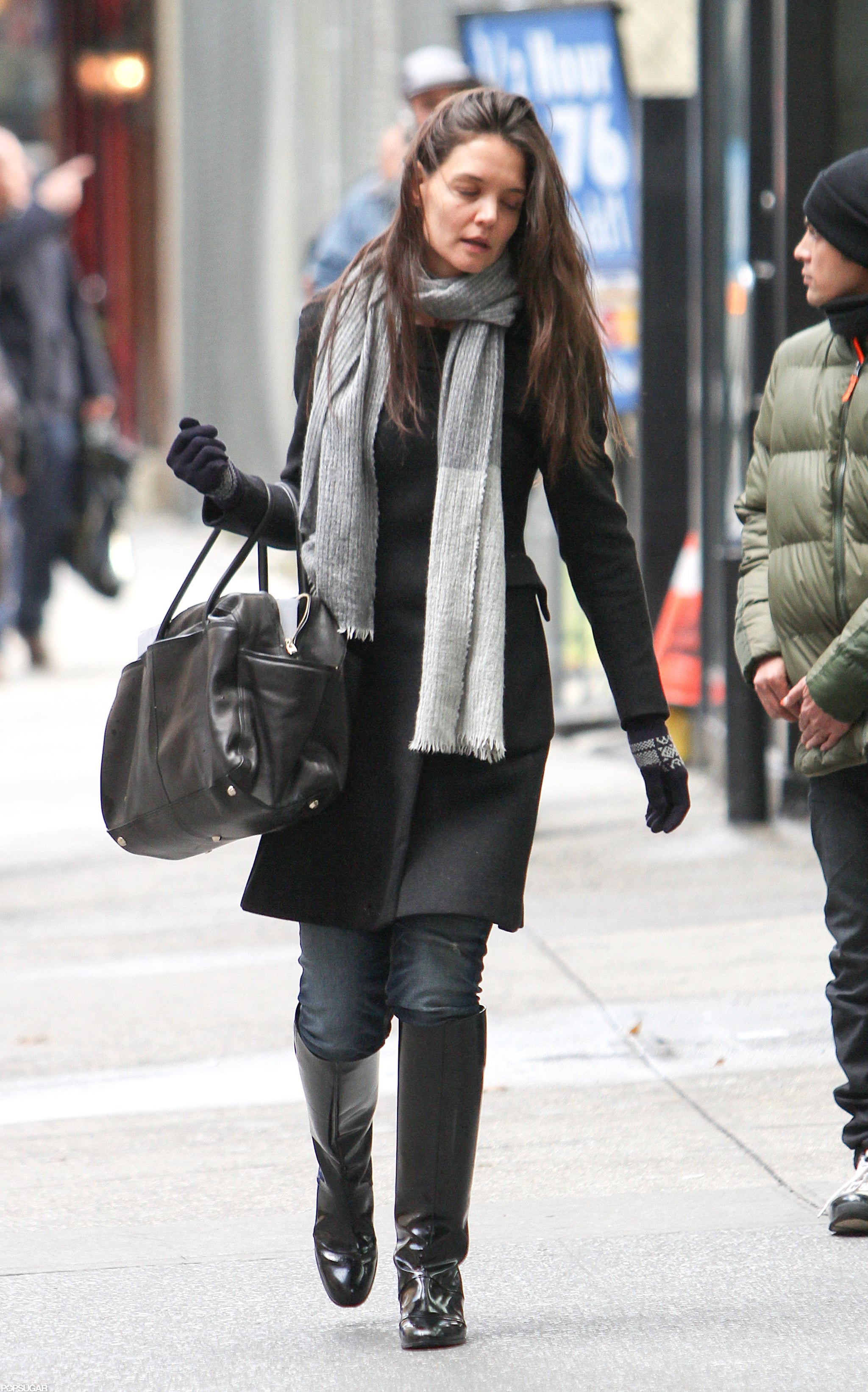 Katie Homes was out and about in NYC.