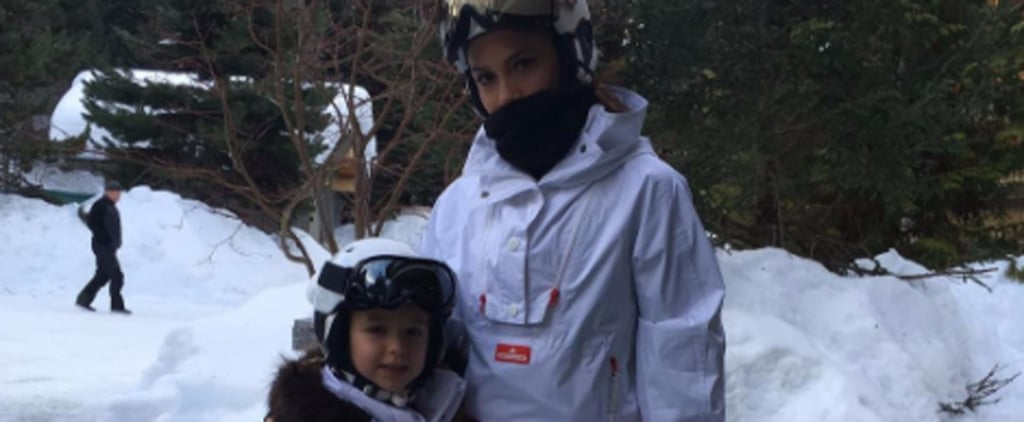 Victoria and Harper Beckham Are the Sweetest Snow Bunnies on Vacation