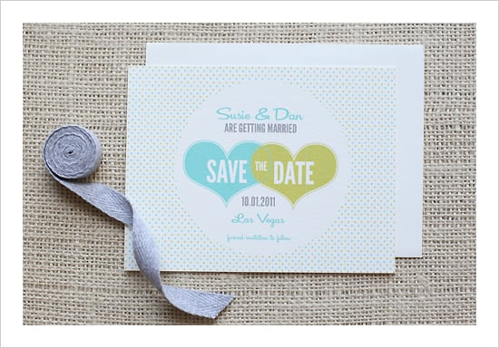 Hearts and Polka Dots Wedding Invitation